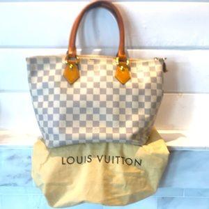 Authentic Louis Vuitton Saleya PM Damier White Bag